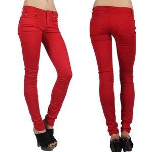 TRIPP T Pocket Ultra Skinny Blood Red Jeans Goth